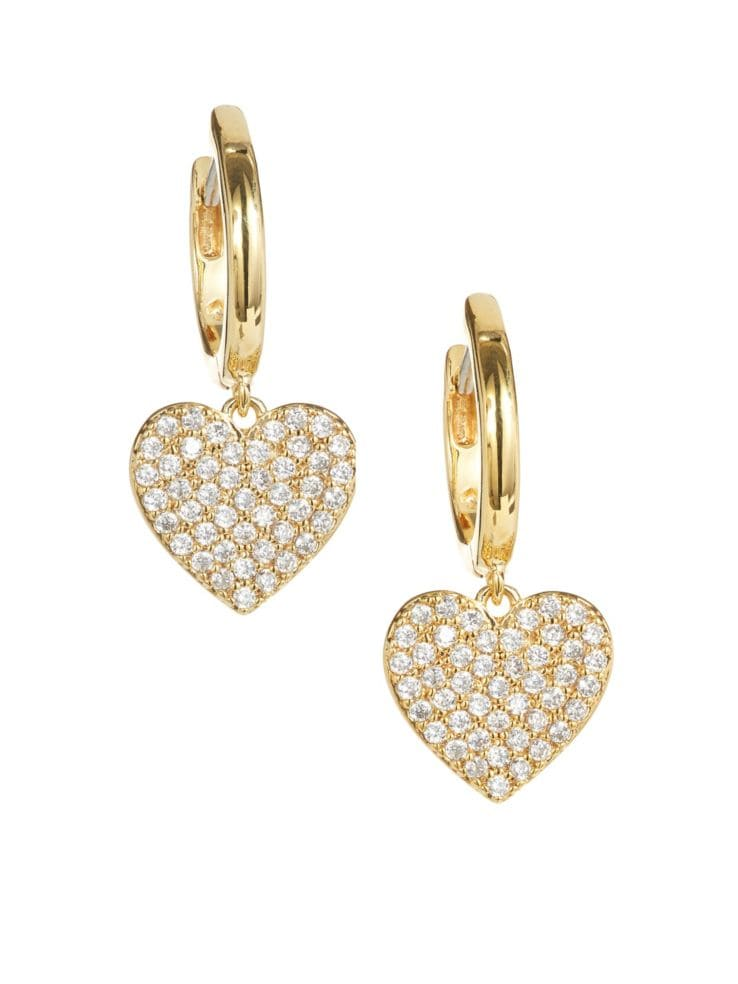 fb1d320951808 Kate Spade New York - Yours Truly Pavé Crystal Heart Drop Earrings ...