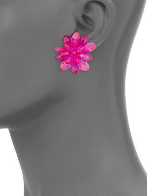 Full Flourish Glass Flower Stud Earrings by Kate Spade New York