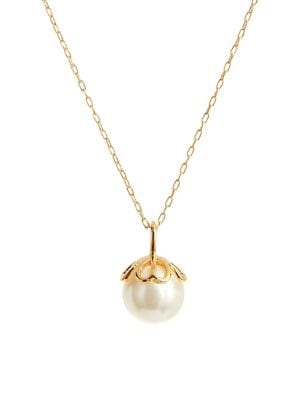 1dcd3079feb4ea QUICK VIEW. Kate Spade New York. Pearlette Crystal & Faux Pearl Pendant  Necklace