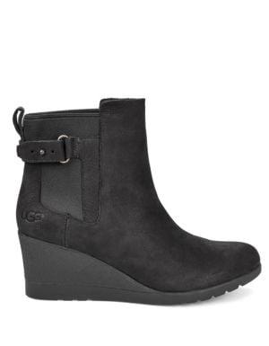 4ef54c89799 UGG - Indra Leather Wedge Booties