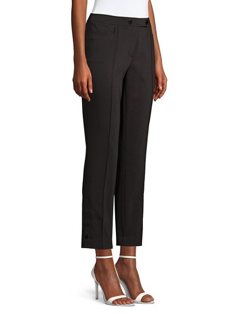 Karl Lagerfeld Paris Pantalon en coton extensible NOIR