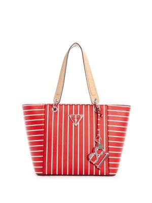 QUICK VIEW. GUESS. Kamryn Striped Tote f27b96556de
