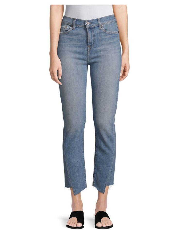 d08f70f1279 Seven - Edie High-Waist Straight Raw Hem Crop Jeans - thebay.com