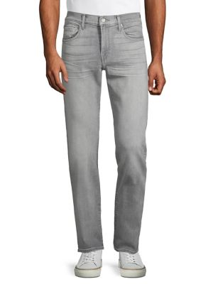 f35e1198ad8 Straight-Leg Stretched Jeans GREY. QUICK VIEW. Product image
