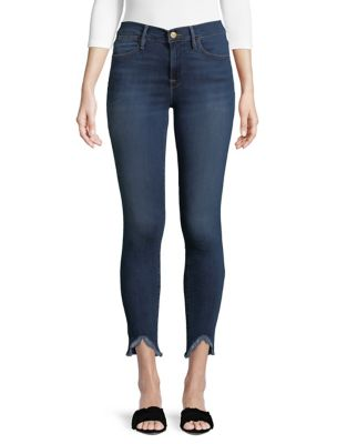 fff30eb96f7 Product image. QUICK VIEW. Frame. Le High Triangle Hem Skinny Jeans