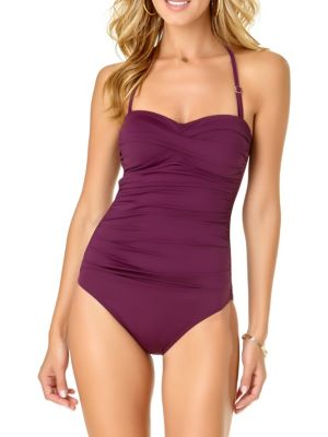 a916f12f7d Product image. QUICK VIEW. Anne Cole. Twisted Shirred One-Piece Swimsuit