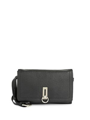 Textured Leather Shoulder Bag BLACK. QUICK VIEW. Product image aed707ff65