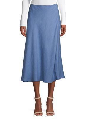 a18b5a94fe2 Midi Faux Wrap Skirt