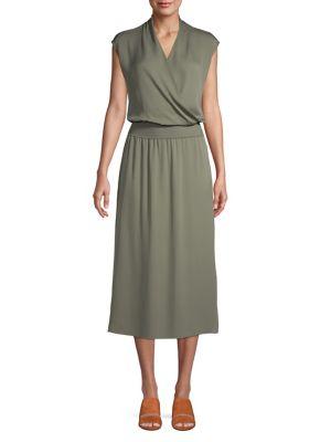 2d8dba100bb QUICK VIEW. Theory. V-Neck Silk Blouson Dress