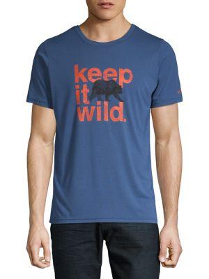 T-shirt à manches courtes avec imprimé BLUE. COUP D OEIL. Photo du produit 3bb83e874c95