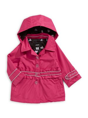 00edd0cd63e3f Little Girl's Hooded Trench Coat FUCHSIA. QUICK VIEW. Product image