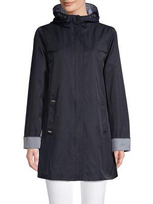 2984e1c2cd QUICK VIEW. London Fog. Hooded Cotton Blend Raincoat