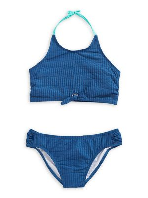 2dd08f4773 2-Piece Girl's Halter Bikini Set NAVY. QUICK VIEW. Product image