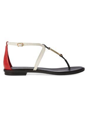 ba99078d6d42 QUICK VIEW. Lauren Ralph Lauren. Colourblock Saddle Flat Sandals
