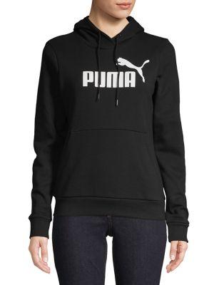 Essentials Logo Fleece Hoodie by Puma