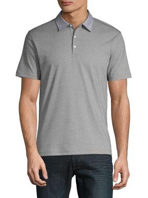 18e43137e4ebe Product image. QUICK VIEW. Black Brown 1826. Birdseye Contrast Collar Polo  Shirt