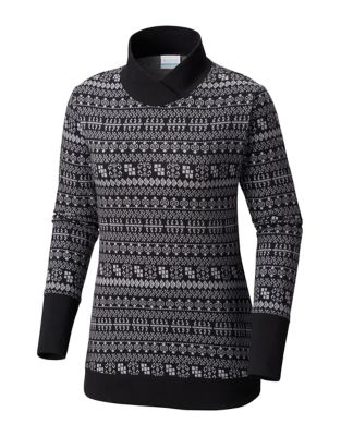 4574173340c Womens Holly Peak Jacquard Long Sleeve Shirt BLACK. QUICK VIEW. Product  image