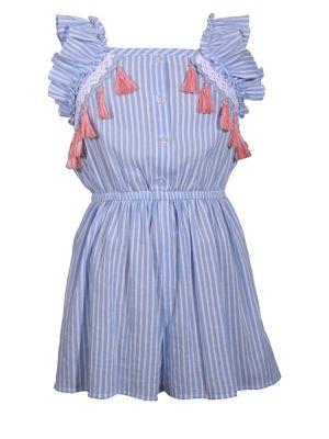 f3a44be4fa Little Girl s Tassel Striped Romper