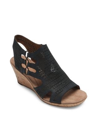 3782451d1 Product image. QUICK VIEW. Rockport Cobb Hill. Janna Perforated Wedge  Sandals