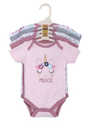 d7f3086d2d8 Baby Girl's 5-Pack Graphic Cotton Bodysuits LIGHT PINK. QUICK VIEW. Product  image