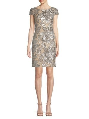 f4ef9ee4 Product image. QUICK VIEW. Calvin Klein. Short Sleeve Floral Sequin Dress.  $279.00 · Sleeveless Sheath Dress BLACK