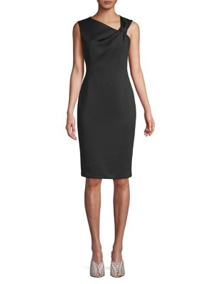 fab968ced8a72 QUICK VIEW. Calvin Klein. Asymmetrical Knot Sheath Dress