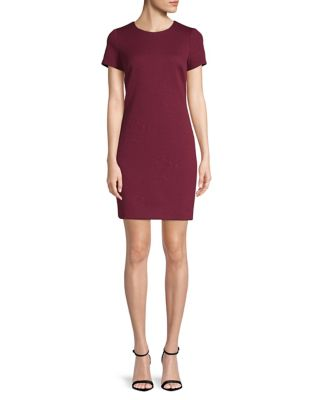 1ee2d379b968 QUICK VIEW. Calvin Klein. Embossed Ponte T-Shirt Dress