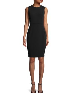 9532a44f6ccf QUICK VIEW. Calvin Klein. Sleeveless Scuba Crepe Sheath Dress