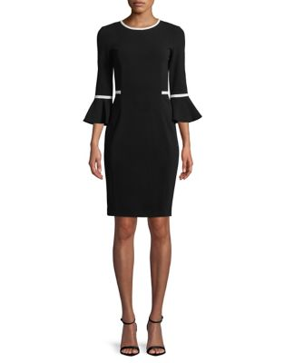 1e55de1907 Product image. QUICK VIEW. Calvin Klein. Scuba Crepe Sheath Dress
