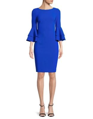 QUICK VIEW. Calvin Klein. Tiered Bell-Sleeve Sheath Dress 73c5a3aa9