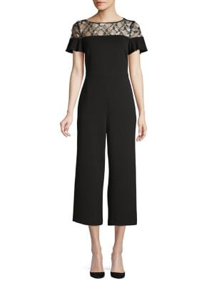7098f12e5c2 Flutter Sleeve Cropped Jumpsuit BLACK. QUICK VIEW. Product image