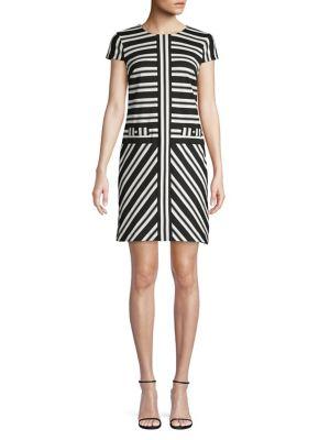 9d86432dd18 QUICK VIEW. Karl Lagerfeld Paris. Contrast Stripe Mini Shift Dress