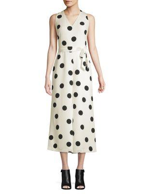 1c3809b9360c QUICK VIEW. Karl Lagerfeld Paris. Sleeveless Dotted Jumpsuit