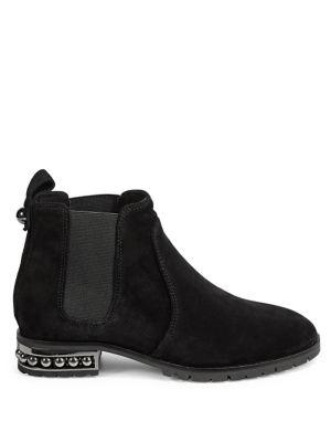 Womens Pearl Heel Ankle Booties by Karl Lagerfeld Paris
