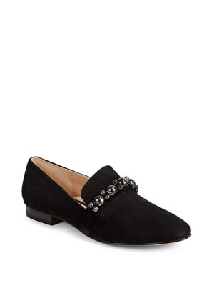0c0cfdd74c3 Embellished Leather Loafers BLACK. QUICK VIEW. Product image