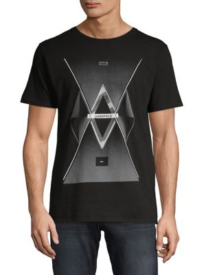 05507bc27 QUICK VIEW. Karl Lagerfeld. Graphic Cotton Tee