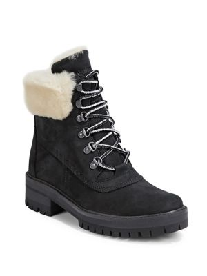 Faux Fur Lined Leather Boots by Timberland