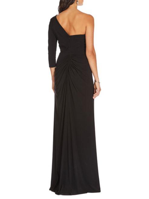 à décoratives dénudée enjolivée épaule fronces Papell Robe de Adrianna soir classique du 08knOPw