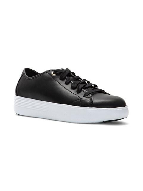 Cole Haan Chaussures sport plateforme en cuir Grand Crosscourt NOIR
