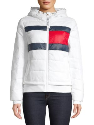 top fashion low priced choose latest Quilted Logo Hooded Jacket