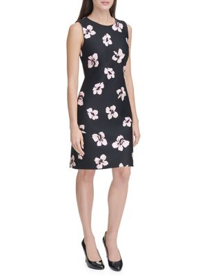 c38abacda937 Product image. QUICK VIEW. Tommy Hilfiger. Collegiate Floral Scuba Sheath  Dress