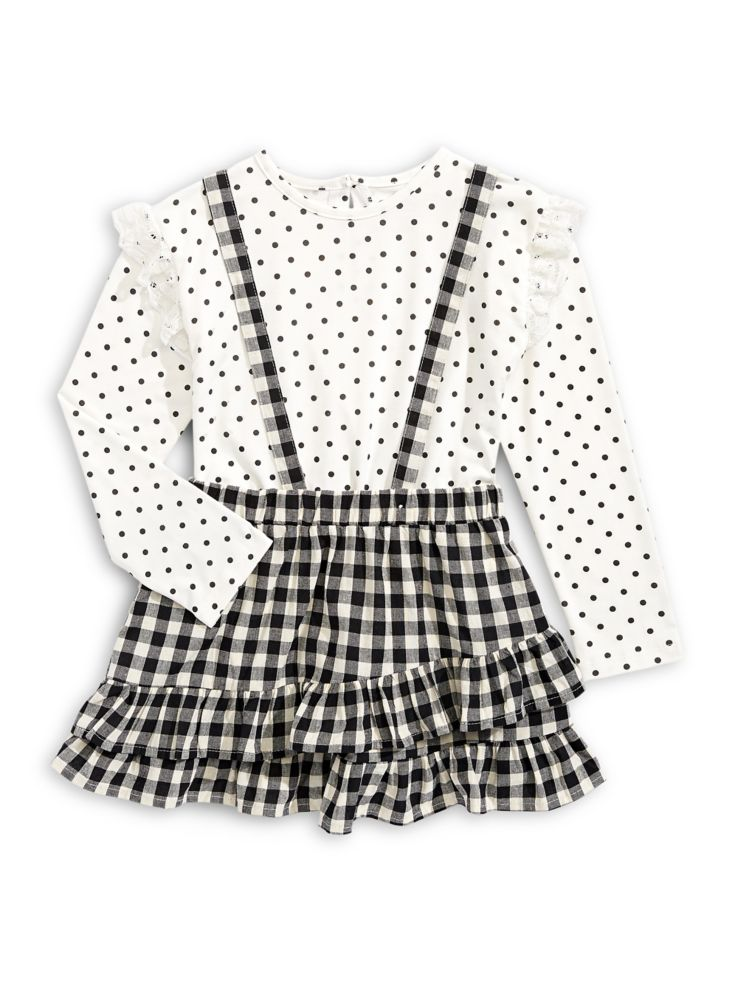 d63e48f4 Jessica Simpson - Little Girls Two-Piece Dots & Check Jumper Set ...