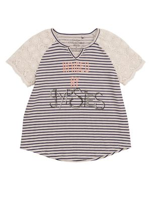 6dbe59a9e04e2 QUICK VIEW. Jessica Simpson. Girl's Lace-Trimmed Tee