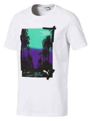 8820c34a QUICK VIEW. Puma. Graphic Palms Photo Cotton Jersey Tee