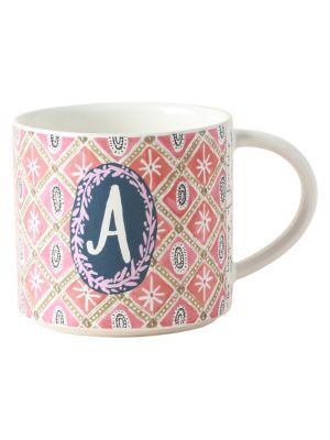 Jo Monogram Stoneware Mug photo