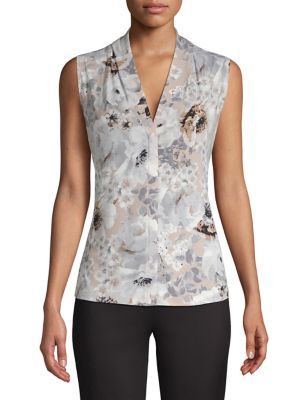 b27fa9f561d45 Product image. QUICK VIEW. Calvin Klein. Floral V-Neck Top