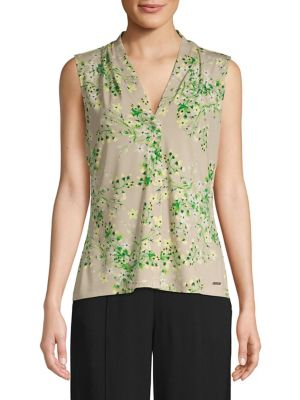 b37a9aca17c88 Product image. QUICK VIEW. Calvin Klein. Floral-Print Sleeveless Top