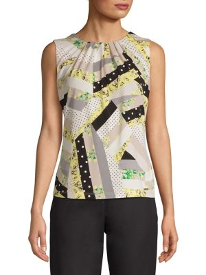 8e5eec6880b1 Product image. QUICK VIEW. Calvin Klein. Printed Sleeveless Top