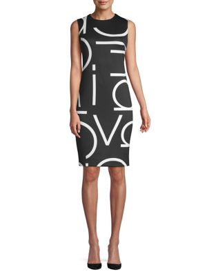 e2b115ede8f2 QUICK VIEW. Calvin Klein. Logo-Print Sheath Dress