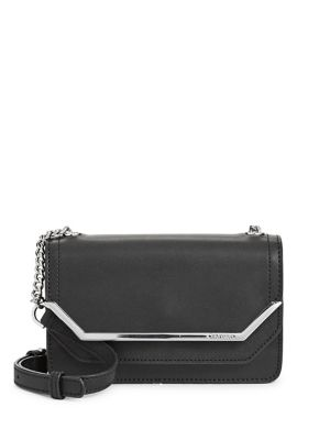 8d6d0af0eccf Chained Leather Crossbody Bag NAVY COMBO. QUICK VIEW. Product image